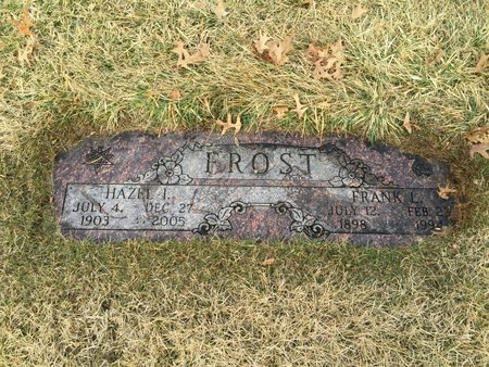 FROST, FRANK L - Douglas County, Nebraska | FRANK L FROST - Nebraska Gravestone Photos