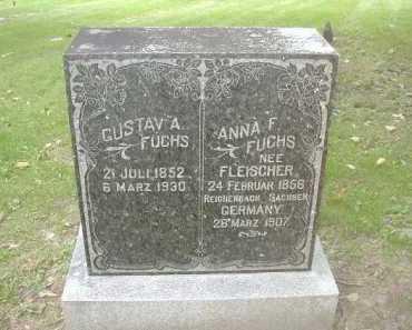 FLEISCHER FUCHS, ANNA F. - Douglas County, Nebraska | ANNA F. FLEISCHER FUCHS - Nebraska Gravestone Photos