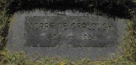 GARLOUGH, LORRAINE - Douglas County, Nebraska   LORRAINE GARLOUGH - Nebraska Gravestone Photos