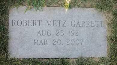 GARRETT, ROBERT METZ - Douglas County, Nebraska   ROBERT METZ GARRETT - Nebraska Gravestone Photos