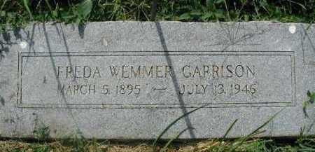 GARRISON, FREDA WEMMER - Douglas County, Nebraska | FREDA WEMMER GARRISON - Nebraska Gravestone Photos