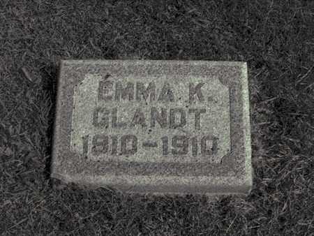 GLANDT, EMMA - Douglas County, Nebraska | EMMA GLANDT - Nebraska Gravestone Photos