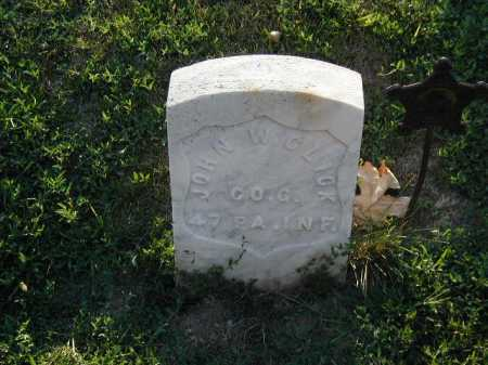 GLICK, JOHN W - Douglas County, Nebraska | JOHN W GLICK - Nebraska Gravestone Photos