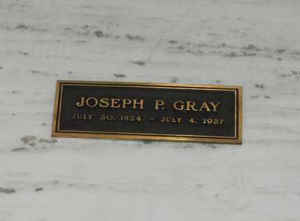 GRAY, JOSEPH P. - Douglas County, Nebraska | JOSEPH P. GRAY - Nebraska Gravestone Photos