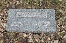 GREMS, KARL W. - Douglas County, Nebraska   KARL W. GREMS - Nebraska Gravestone Photos