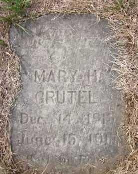 GRUTEL, MARY H. - Douglas County, Nebraska | MARY H. GRUTEL - Nebraska Gravestone Photos