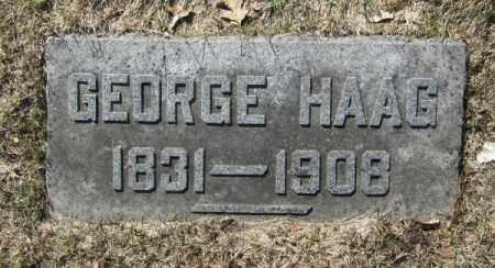 HAAG, GEORGE - Douglas County, Nebraska | GEORGE HAAG - Nebraska Gravestone Photos