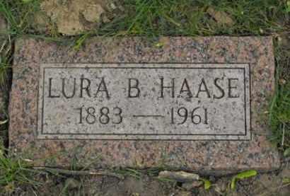 HAASE, LURA B. - Douglas County, Nebraska | LURA B. HAASE - Nebraska Gravestone Photos