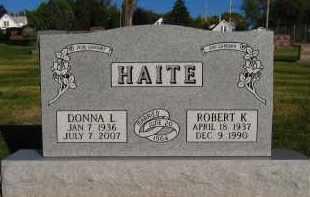 HAITE, ROBERT K - Douglas County, Nebraska | ROBERT K HAITE - Nebraska Gravestone Photos