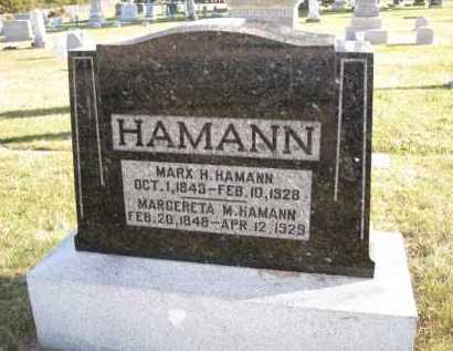 HAMANN, MARGERETA M. - Douglas County, Nebraska   MARGERETA M. HAMANN - Nebraska Gravestone Photos