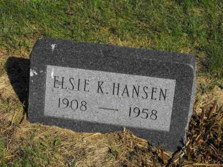 HANSEN, ELSIE - Douglas County, Nebraska | ELSIE HANSEN - Nebraska Gravestone Photos