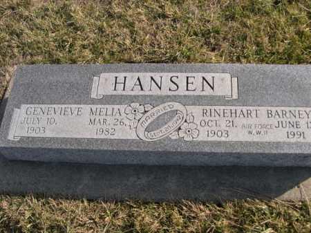 HANSEN, RINEHART BARNEY - Douglas County, Nebraska   RINEHART BARNEY HANSEN - Nebraska Gravestone Photos