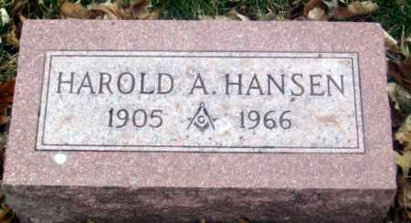 HANSEN, HAROLD A. - Douglas County, Nebraska   HAROLD A. HANSEN - Nebraska Gravestone Photos