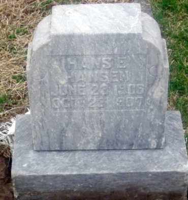 HANSEN, HANS E. - Douglas County, Nebraska   HANS E. HANSEN - Nebraska Gravestone Photos