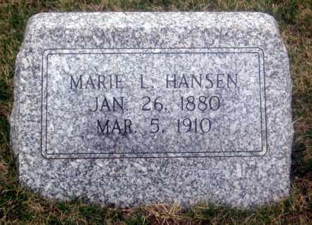 HANSEN, MARIE L. - Douglas County, Nebraska | MARIE L. HANSEN - Nebraska Gravestone Photos