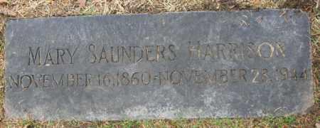 SAUNDERS HARRISON, MARY - Douglas County, Nebraska | MARY SAUNDERS HARRISON - Nebraska Gravestone Photos