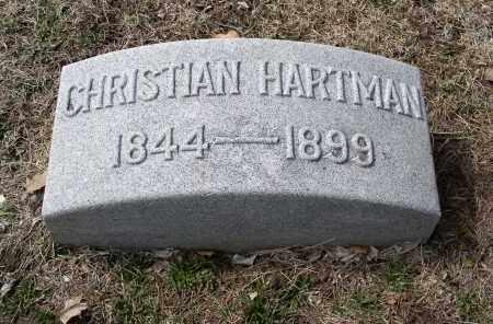 HARTMAN, CHRISTIAN - Douglas County, Nebraska | CHRISTIAN HARTMAN - Nebraska Gravestone Photos