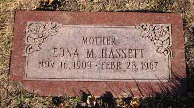 HASSETT, EDNA M. - Douglas County, Nebraska | EDNA M. HASSETT - Nebraska Gravestone Photos