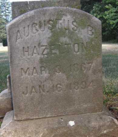 HAZELTON, AUGUSTUS B. - Douglas County, Nebraska | AUGUSTUS B. HAZELTON - Nebraska Gravestone Photos