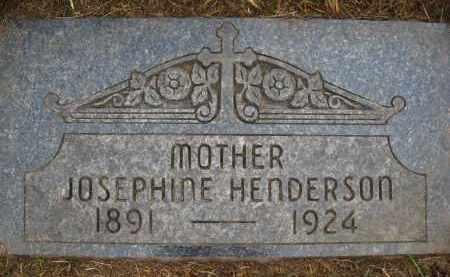 HENDERSON, JOSEPHINE - Douglas County, Nebraska | JOSEPHINE HENDERSON - Nebraska Gravestone Photos