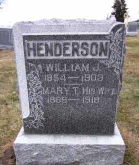 HENDERSON, WILLIAM J. - Douglas County, Nebraska | WILLIAM J. HENDERSON - Nebraska Gravestone Photos
