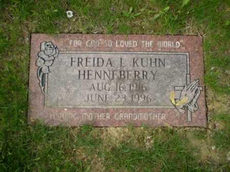 KUHN HENNEBERRY, FREIDA LORRAINE - Douglas County, Nebraska   FREIDA LORRAINE KUHN HENNEBERRY - Nebraska Gravestone Photos