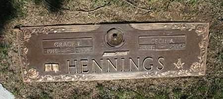HENNINGS, CECIL A - Douglas County, Nebraska | CECIL A HENNINGS - Nebraska Gravestone Photos