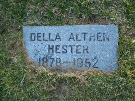 ALTHEN HESTER, DELLA - Douglas County, Nebraska | DELLA ALTHEN HESTER - Nebraska Gravestone Photos