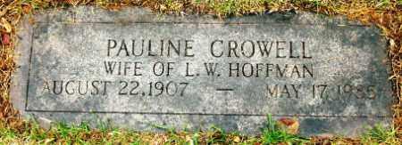 HOFFMAN, PAULINE - Douglas County, Nebraska   PAULINE HOFFMAN - Nebraska Gravestone Photos