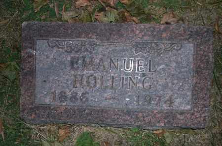 HOLLING, EMANUEL - Douglas County, Nebraska   EMANUEL HOLLING - Nebraska Gravestone Photos