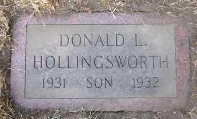 HOLLINGSWORTH, DONALD L. - Douglas County, Nebraska   DONALD L. HOLLINGSWORTH - Nebraska Gravestone Photos