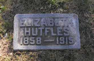 HUTFLES, ELIZABETH - Douglas County, Nebraska   ELIZABETH HUTFLES - Nebraska Gravestone Photos