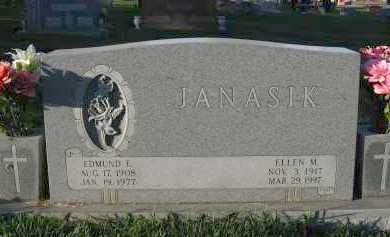 JANASIK, EDMUND E. - Douglas County, Nebraska | EDMUND E. JANASIK - Nebraska Gravestone Photos
