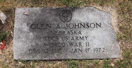 JOHNSON, GLEN A. (MILITARY MARKER) - Douglas County, Nebraska | GLEN A. (MILITARY MARKER) JOHNSON - Nebraska Gravestone Photos