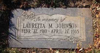 JOHNSON, LAURETTA M. - Douglas County, Nebraska | LAURETTA M. JOHNSON - Nebraska Gravestone Photos