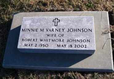 JOHNSON, MINNIE M. (VARNEY) - Douglas County, Nebraska   MINNIE M. (VARNEY) JOHNSON - Nebraska Gravestone Photos