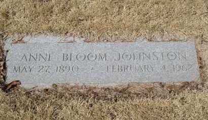 BLOOM JOHNSTON, ANNE - Douglas County, Nebraska | ANNE BLOOM JOHNSTON - Nebraska Gravestone Photos