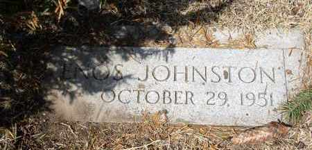 JOHNSTON, ENOS - Douglas County, Nebraska | ENOS JOHNSTON - Nebraska Gravestone Photos