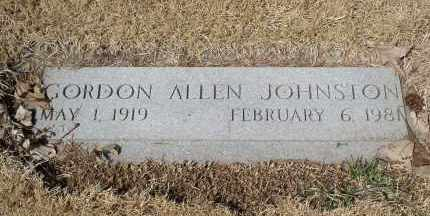 JOHNSTON, GORDON ALLEN - Douglas County, Nebraska | GORDON ALLEN JOHNSTON - Nebraska Gravestone Photos