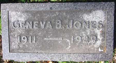 JONES, GENEVA B. - Douglas County, Nebraska | GENEVA B. JONES - Nebraska Gravestone Photos