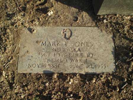 JONES, MARK F. - Douglas County, Nebraska | MARK F. JONES - Nebraska Gravestone Photos
