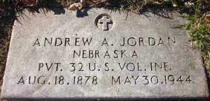 JORDAN, ANDREW A. - Douglas County, Nebraska | ANDREW A. JORDAN - Nebraska Gravestone Photos