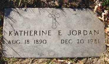 JORDAN, KATHERINE E. - Douglas County, Nebraska | KATHERINE E. JORDAN - Nebraska Gravestone Photos