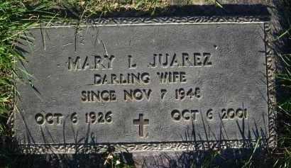 JUAREZ, MARY L - Douglas County, Nebraska | MARY L JUAREZ - Nebraska Gravestone Photos