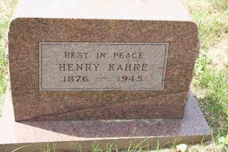 KAHRE, HENRY - Douglas County, Nebraska | HENRY KAHRE - Nebraska Gravestone Photos
