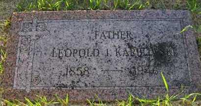 KARBOWSKI, LEOPOLD I. - Douglas County, Nebraska   LEOPOLD I. KARBOWSKI - Nebraska Gravestone Photos