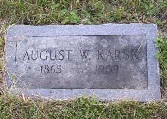 KARSK, AUGUST W. - Douglas County, Nebraska | AUGUST W. KARSK - Nebraska Gravestone Photos