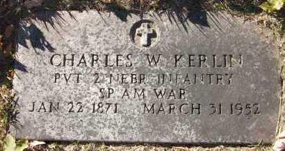 KERLIN, CHARLES W. - Douglas County, Nebraska   CHARLES W. KERLIN - Nebraska Gravestone Photos