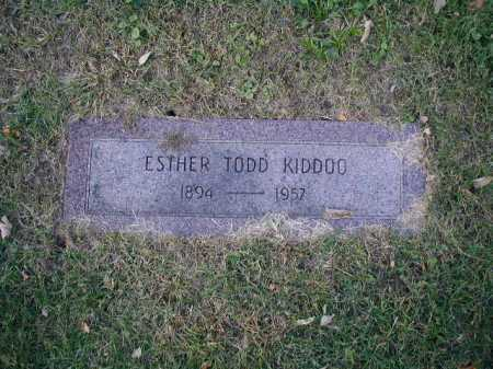 KIDDOO, ESTHER TODD - Douglas County, Nebraska   ESTHER TODD KIDDOO - Nebraska Gravestone Photos