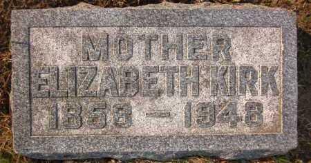 KIRK, ELIZABETH - Douglas County, Nebraska   ELIZABETH KIRK - Nebraska Gravestone Photos
